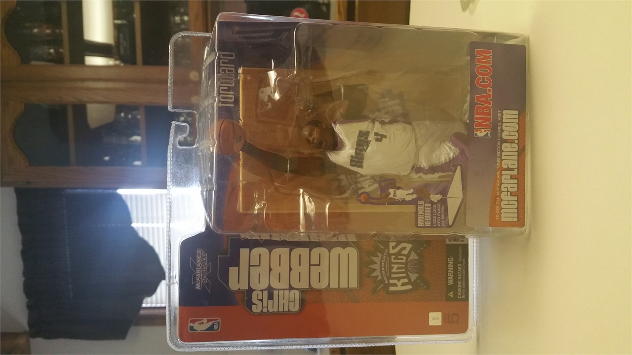 McFarlane Chris Webber Sacramento Kings Action Figures (series 5) MIP