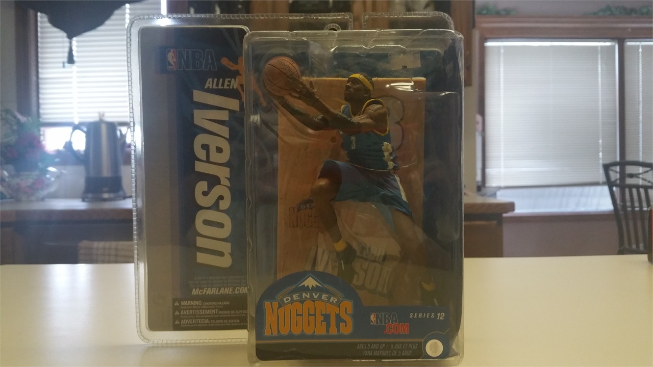 McFarlane Toys NBA Sports Picks Series 12 Action Figure Allen Iverson 2 (Denver Nuggets) Blue Jersey