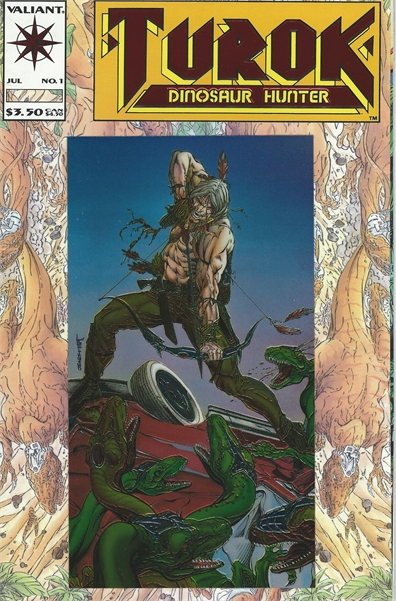 1993 Vallant Comic Book No. 1 Turok Dinosaur Hunter Foil Cover!!!