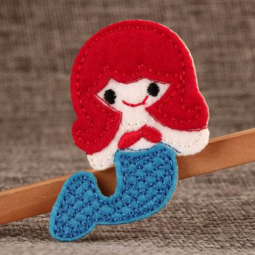 Pretty Mermaid Custom Embroidered Patches