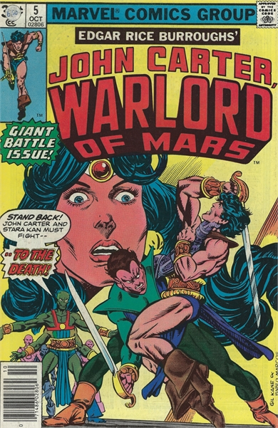 John Carter Warlord of Mars (1977 Marvel) October #5 Collectible Comic - Bronze Age