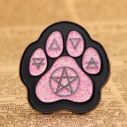 Cat Footprint Custom Pins Cheap