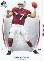 2007 Upper Deck NFL SP Authentic - Matt Leinart (Cardinals) #7 QB - Card #62
