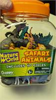 Bucket of Safari animals....NEW IN CONTAINER