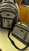 Roots backpack and lunch kit...BRAND NEW