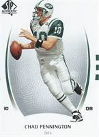 2007 Upper Deck NFL SP Authentic - Chad Pennington (Jets) #10 QB - Card #19