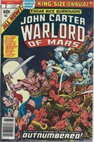 John Carter Warlord of Mars (1978 Marvel) Annual #2 Collectible Comic