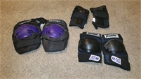 Roller blade, knee pads, elbow pads, wrist protect