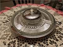 Vintage Retro Kromex 7Piece Glass & Chrome Lazy Susan Party Dish.  Mid 1950's (Calgary)