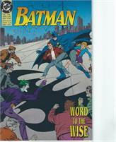 Batman A Word to the Wise (1992) comic books  Scan is of actual Comic!