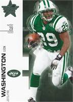 2007 Donruss Leaf Rookies & Stars - Leon Washington (Jets) #29 RB - Card #63