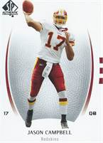 2007 Upper Deck NFL SP Authentic - Jason Campbell (Redskins) #17 QB - Card #41