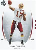 2007 Upper Deck NFL SP Authentic - Jason Campbell (Redskins) #17 QB - Card #41