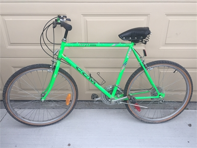 """Bicycle - 26"""" frame, mountain/road bike, 18 speed, new tires $75"""