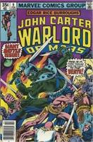 John Carter Warlord of Mars (1977 Marvel) November #9 Collectible Comic - Bronze Age