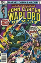 John Carter Warlord of Mars (1977 Marvel) November #9 Collectible Comic - Bronze Age
