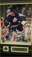 Brian Leetch framed beautifully picture. From Toronto Maple Leafs.