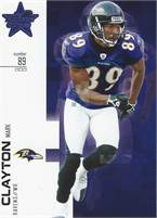 2007 Donruss Leaf Rookies & Stars - Mark Clayton (Ravens) #89 WR - Card #66