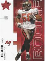 2007 Donruss Leaf Rookies & Stars - Quincy Black (Buccaneers) Rookie LB - Card #604/999