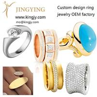 American trader design his own custom made ring jewelry from JINGYING