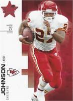 2007 Donruss Leaf Rookies & Stars - Larry Johnson (Chiefs) #27 LB - Card #93