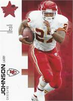 2007 Donruss Leaf Rookies & Stars - Larry Johnson (Chiefs) #27 LB - Card #93