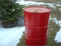 Metal 45 gallon barrels, burning, racing, storage, trash, rainwater collection