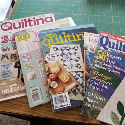 Quilting Books and Magazines, some new some gently used