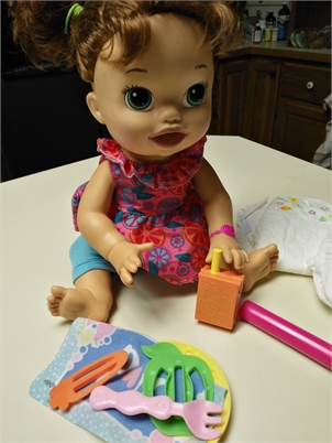 Baby Alive Super Snacks Sarah Doll with Included Accessories.  Adorable!!