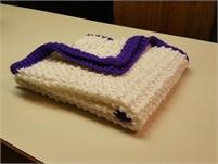 Baby crocheted hand made Christening blanket (Calgary)
