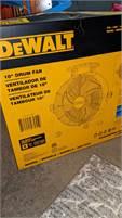DeWalt drum fan..BRAND NEW IN BOX