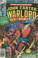 John Carter Warlord of Mars (1977 Marvel) November #7 Collectible Comic - Bronze Age