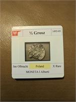 1/2 Gross 1492-05 Jan Olbracht Poland MONETA I Alberti X-Rare
